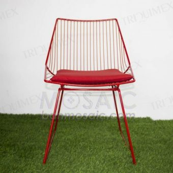 Wrought Iron Outdoor Sled Chair