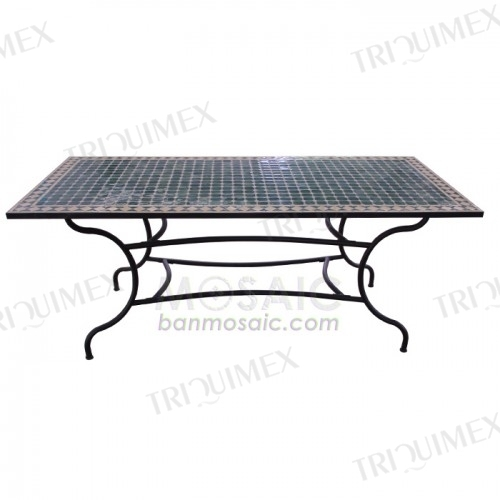 Rectangular Mosaic Top Dining Table