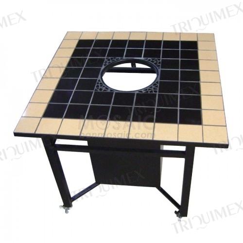 Glazed Ceramic Mosaic BBQ Table