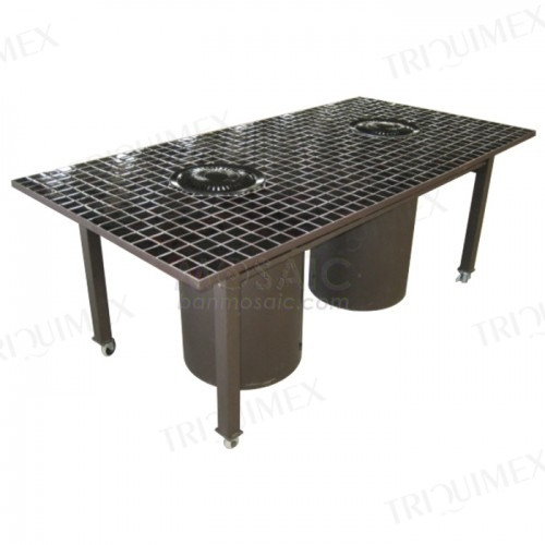 BBQ Table with 2 Burners and Iron Frame