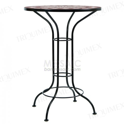 Round Bar Height Pub Table Iron Base