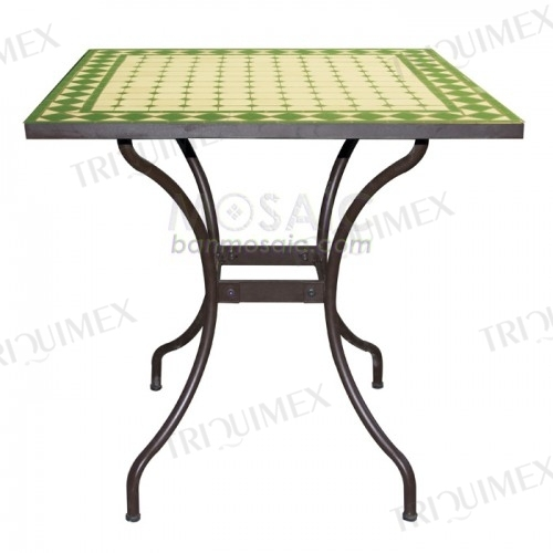 Knock-down Mosaic Outdoor Dining Table