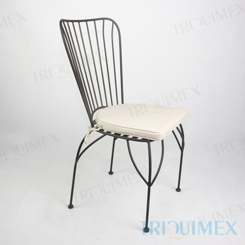Powder Coated Wrought Iron Bistro Chair