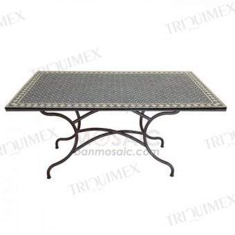 Rectangular Dining Table with Mosaic Top