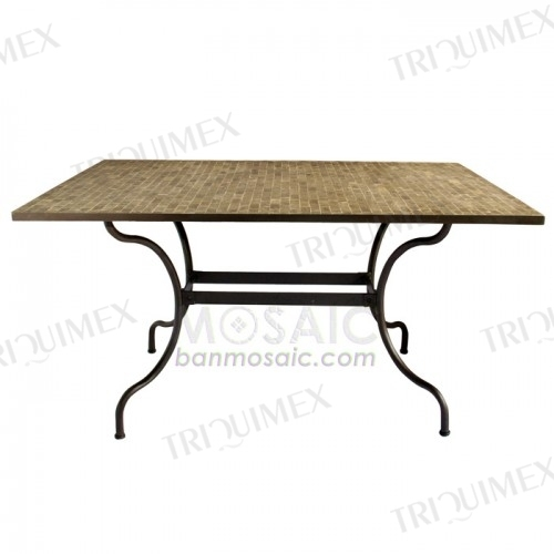Iron and Granite Mosaic Dining Table