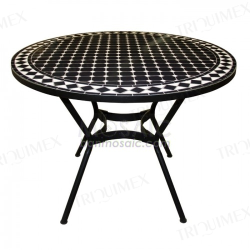 4 Seater Mosaic Dining Table Iron Base
