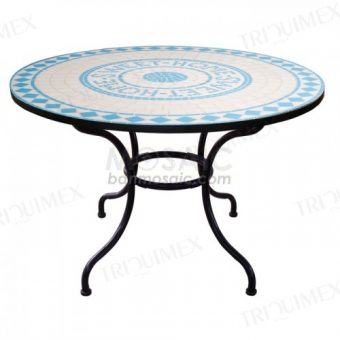 Round Mosaic Table with Custom Logo