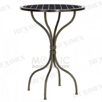 Wrought Iron Bar Height Bistro Table