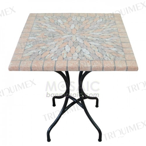 Square Mosaic Outdoor Bistro Table