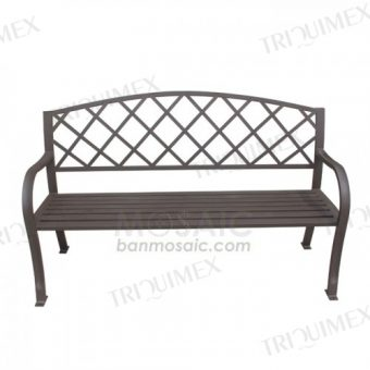 Wrought Iron Garden Bench Arms and Back