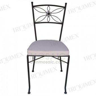 Wrought Iron Chair with Floral Patterns