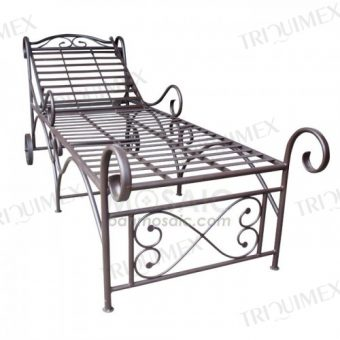 Wrought Iron Knock-down Sunlounger