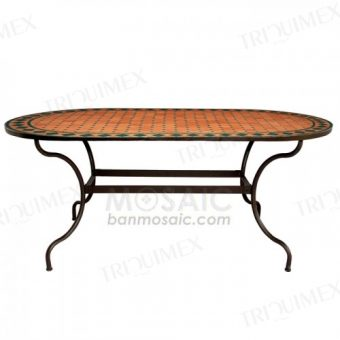 Oval Wrought Iron Dining Table