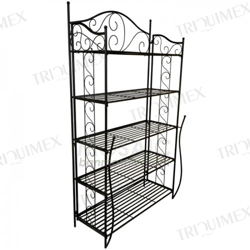 Wrought Iron 5 Tier Bakers Rack