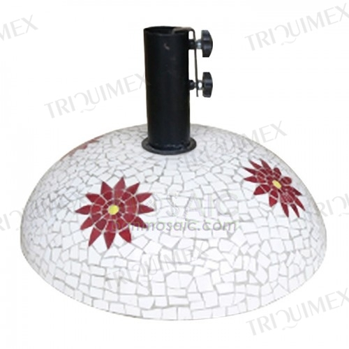 Round Mosaic Umbrella Base Concrete Core