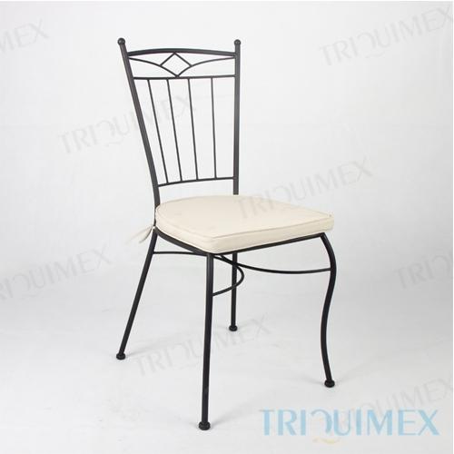 Wrought Iron Garden Chair Lattice Seat