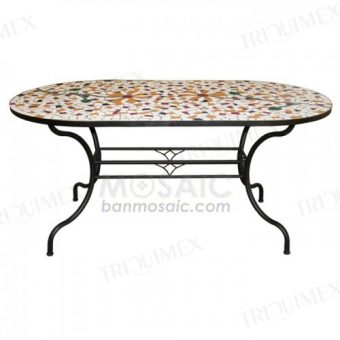 Oval Dining Table for Garden Restaurants
