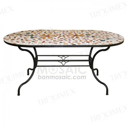 Oval Dining Table for Garden Restaurants
