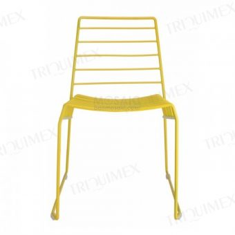 Iron Stacking Sled Base Chair