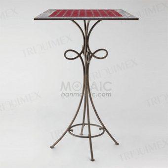 Mosaic Bar Height Bistro Table Iron Base