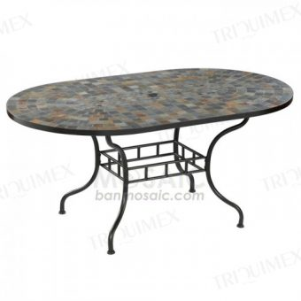 Patio Dining Table with Umbrella Hole