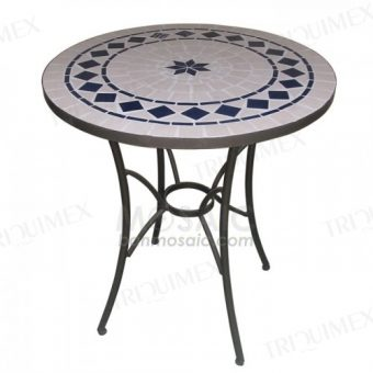 Round Bistro Table with Tiled Top