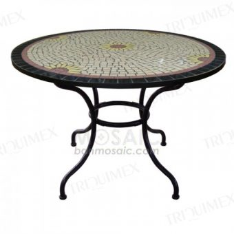 Round Mosaic Dining Table for Restaurants