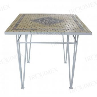 Wrought Iron and Mosaic Restaurant Table