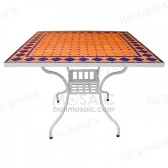 Square Terracotta Mosaic Table Top
