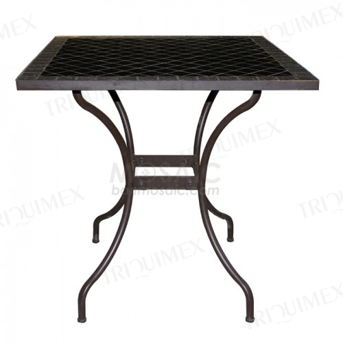 Square Outdoor Table Mosaic Tiled Top