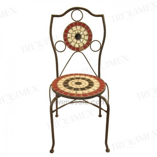 Terracotta Mosaic Bistro Chair