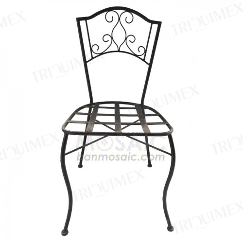 Powder Coated Wrought Iron Patio Chair