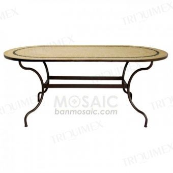 Oval Mosaic Dining Table to Seat 8