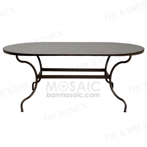 Oval Mosaic Outdoor Dining Table