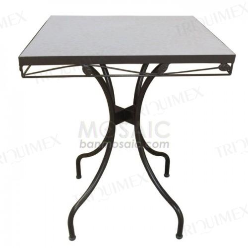 Square White Terracotta Mosaic Table