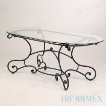 Oval Tempered Glass Dining Table
