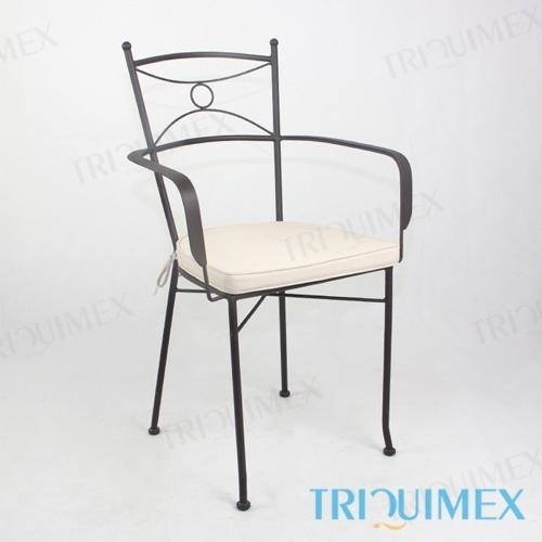 Wrought Iron Chair with Lattice Seat