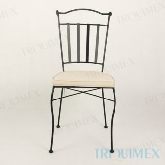 Wrought Iron Dining Chair Lattice Seat