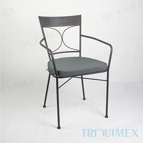 Wrought Iron Patio Armchair Lattice Seat