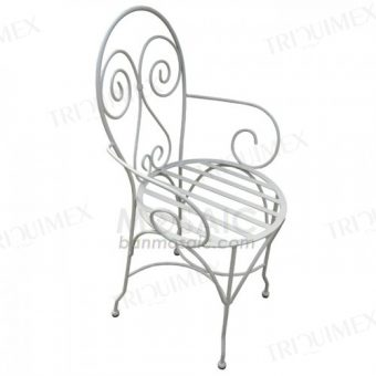 Iron Bistro Chair with Scroll Back