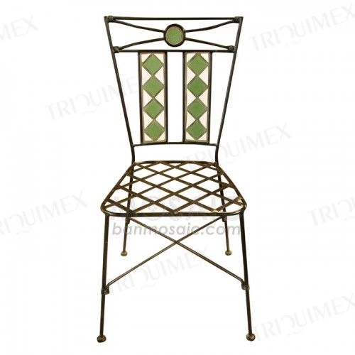 Patio Chair with Wrought Iron Frame