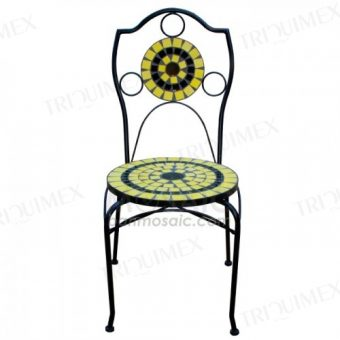 Mosaic Bistro Chair with Round Seat