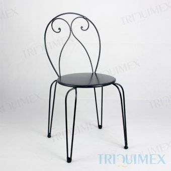 Iron Bistro Chair with Hairpin Legs