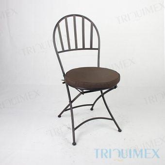 Wrought Iron Folding Bistro Chair