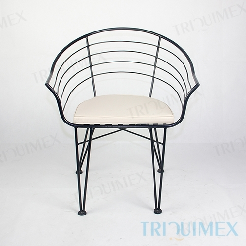 Wrought Iron Outdoor Barrel Chair