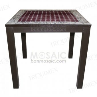 Square Restaurant Dining Table MosaicTop