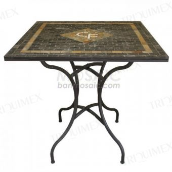 Outdoor Table with Mosaic Business Logo