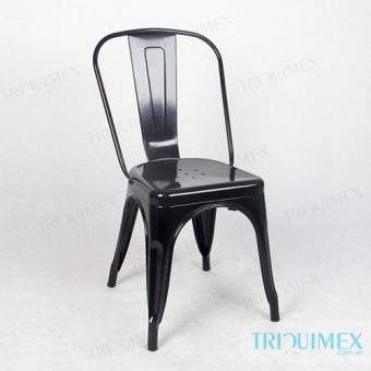 Modern Iron Dining Chair in Tolix Style