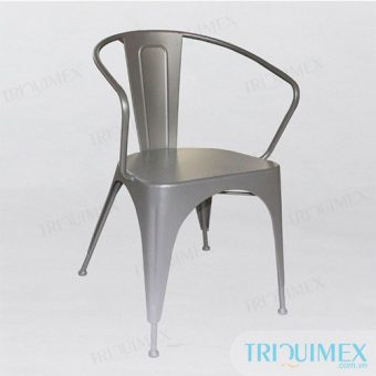Powder Coated Iron Tolix-Style Armchair