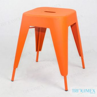 Tolix-style Low Stool